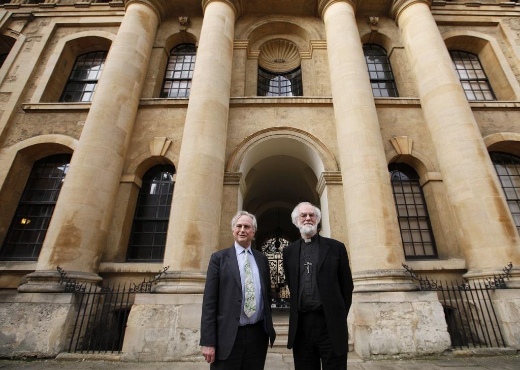 Ричард Докинз и Архиепископ Кентерберийский Роуэн Уилсон на дебатах в Оксфордском университете